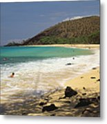 Makena Beach Panorama Metal Print
