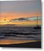 Makena Sunset Metal Print