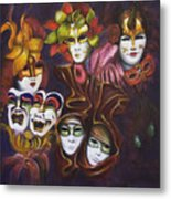 Making Faces I Metal Print