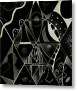 Making Points In Multiple Perspectives - An Inversion Metal Print