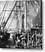 Making The Splice Between The Shore End And The Ocean Cable Metal Print