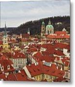 Mala Strana Rooftops. Prague Spring 2017 Metal Print