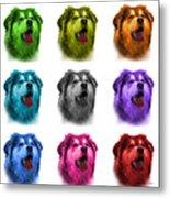 Malamute Dog Art - 6536 - Wb - M Metal Print
