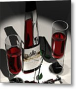 Malbec Wine - Romance Expectations Metal Print by Stuart Stone