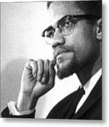 Malcolm X (1925-1965) Metal Print by Granger