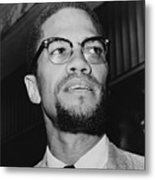 Malcolm X 1925-1965 In 1964, The Year Metal Print