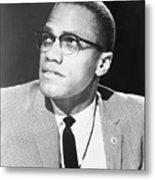 Malcolm X, Militant Black Muslim Civil Metal Print by Everett