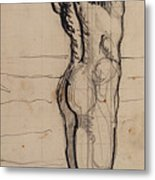 Male Act   Study For The Truth Metal Print by Ferdninand Hodler