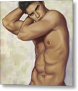 Male Nude 1 Metal Print