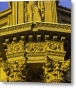 Male Statue Palace Of Fine Arts Metal Print