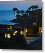 Malibu Beach House - Evening Metal Print