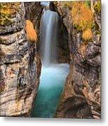 Maligne Canyon Falls Vertical Panorama Metal Print