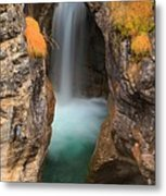 Maligne Canyon Vertical Panorama Metal Print