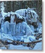 Maligne Canyon Winter Wonders Metal Print