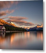 Maligne Lake Sunrise Metal Print