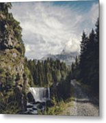Mallero Mountain Creek - Chiesa In Valmalenco - Lombardia - Italy Metal Print