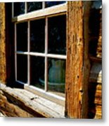 Maltese Cross Cabin Window Metal Print