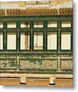 Maltese Wooden Enclosed Balcony And Windows Metal Print