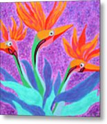 Mama And Her Chicks By Ken Tesoriere Metal Print