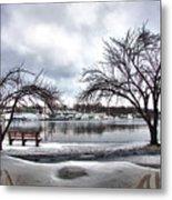 Mamaroneck Harbor In Winter Metal Print