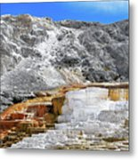 Mammoth Hot Springs3 Metal Print