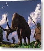 Mammoth Hunters Metal Print