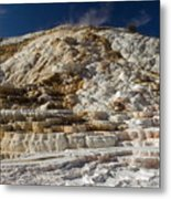 Mammouth Hot Springs Metal Print