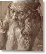 Man Aged 93 Brush Ink On Paper 1521 Metal Print