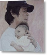 Man And Baby Metal Print