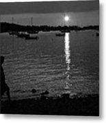Man At Sunset Metal Print