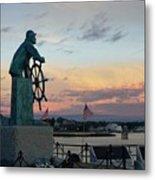Man At The Wheel At Sunset Metal Print by Matthew Green