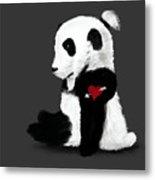 Man Bun Panda Metal Print