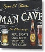 Man Cave Chalkboard Sign Metal Print