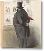 Man For A Showcase With Prints, Anonymous, 1810 - C. 1900 Metal Print