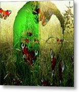 Man Front Of Mother Nature Metal Print