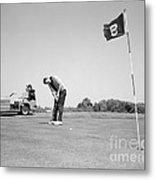 Man Golfing, C.1960s Metal Print