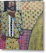Man In A Golden Suit Metal Print