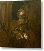 Man In Armor Metal Print