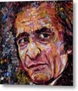 Man In Black Johnny Cash Metal Print