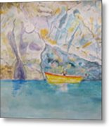 Man In Boat, Lerici Metal Print