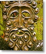 Man In Bronze Metal Print