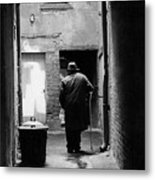 Man In Paris Alley Metal Print