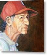 Man In Red Cap Metal Print