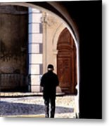 Man In The Archway Metal Print