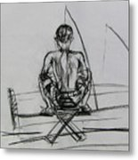 Man In The Fishing Game Metal Print