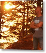Man In The Forest Metal Print