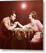 Man Kissing Womans Hand Romantic Couple Metal Print
