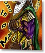 Man Of War Poster Design Metal Print