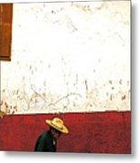 Man On A Patzcuaro Street Metal Print