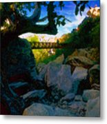 Man On The Bridge Metal Print